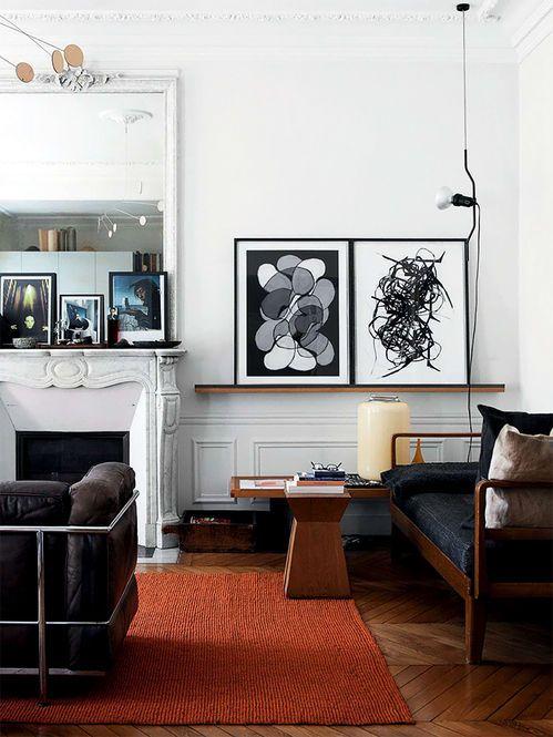apartamento em paris designer angelica steudel fotgrafo morten holtum fonte elle decoration uk modern living roomsliving
