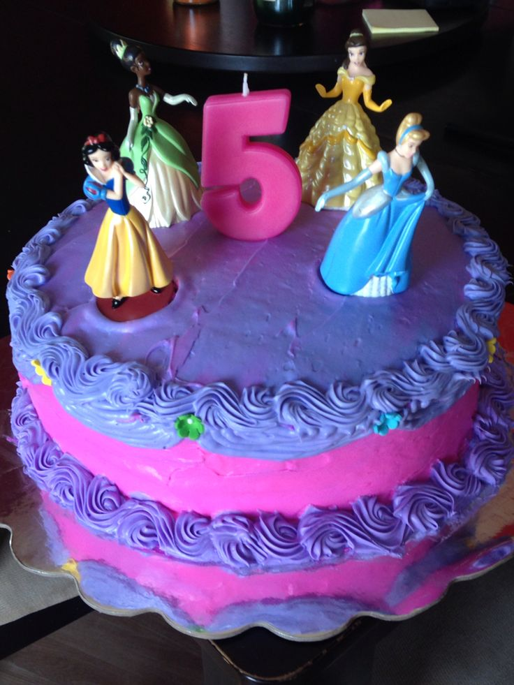 Disney Princess Cake For A Special Little 5 Year Old