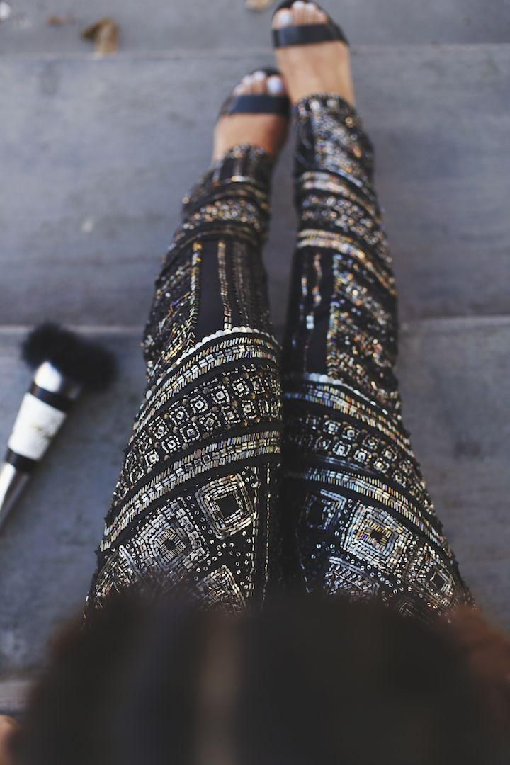 Sequin Embellished Pants for New Year's Eve!