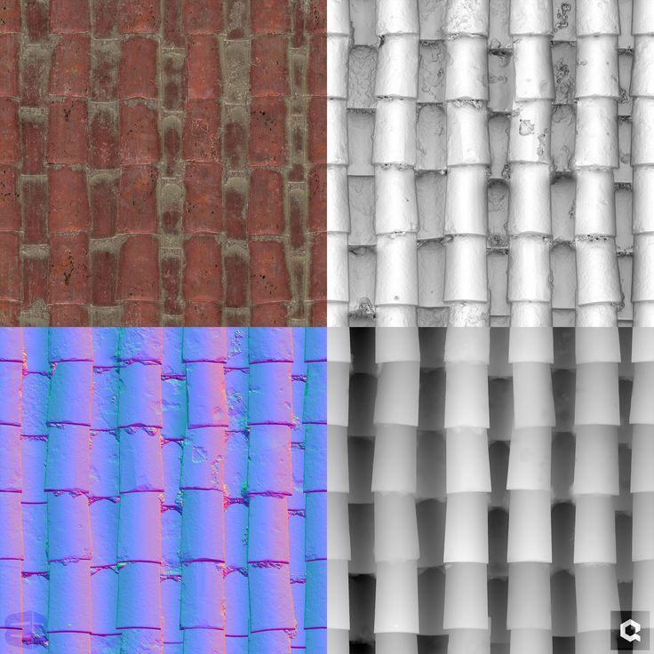 ArtStation Spanish Tile Shingles / Roof , Mak Malovic (с