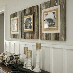 Love the old barn wood look