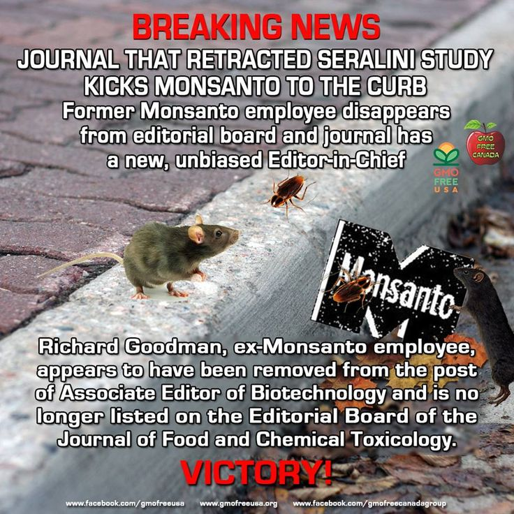 VICTORY!! The former Editor-in-Chief, A. Wallace Hayes, who retracted the important paper by the Seralini team appears to have been demoted and Jose Domingo has been appointed Editor-in-Chief. Jose Domingo has published papers showing that safety of GM crops is not an established fact. Thank you to all the dedicated scientists and to all of you who took the time to contact the journal and call for their removal.  READ…