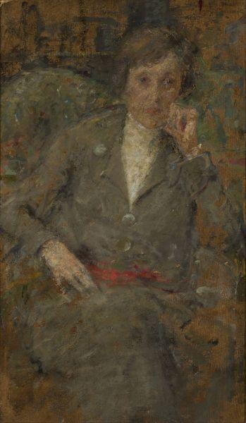 Portret panny Syrewicz - Olga Boznańska