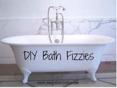 How to Make Homemade Bath Fizzies
