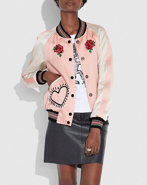 149568a8b Coach x keith haring reversible satin jacket | expensive things ...