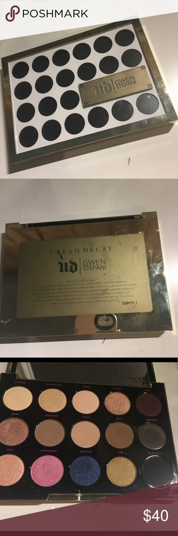 Urban Decay Gwen Stefani Palette Rarely used / some colors haven't even been touched / Authentic / no trades / reasonable offers considered / no PayPal Urban Decay Makeup Eyeshadow