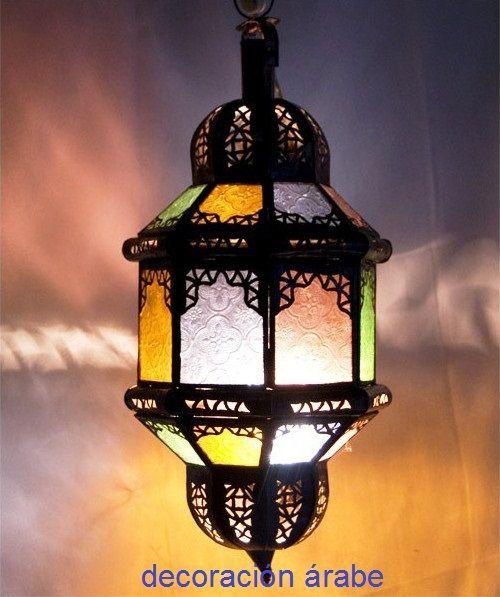 L mpara marroqu con arcos decoraci n rabe - Comprar decoracion arabe ...