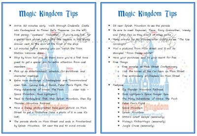 A Sprinkle of This . . . .: Tips for Disney World - Magic Kingdom - this site has a bunch of tips for each land...