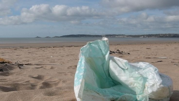 Video thumbnail, People have left this rubbish on Wales' beaches