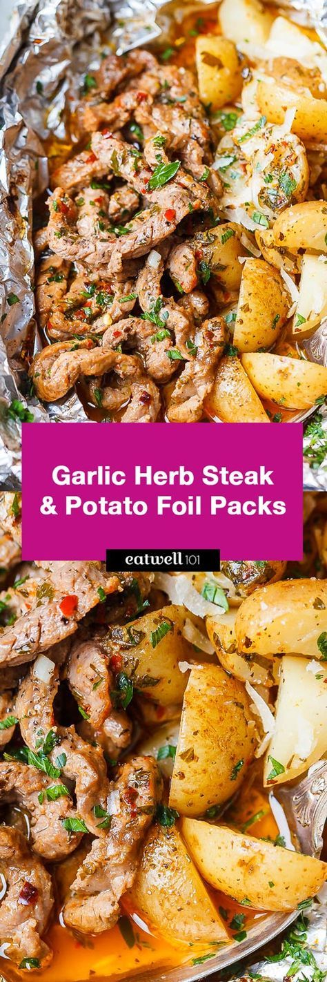 Packets of aluminum with garlic and herbs   – Recipes