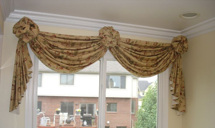 how to make a valance with 2 window panels nice soft. Black Bedroom Furniture Sets. Home Design Ideas