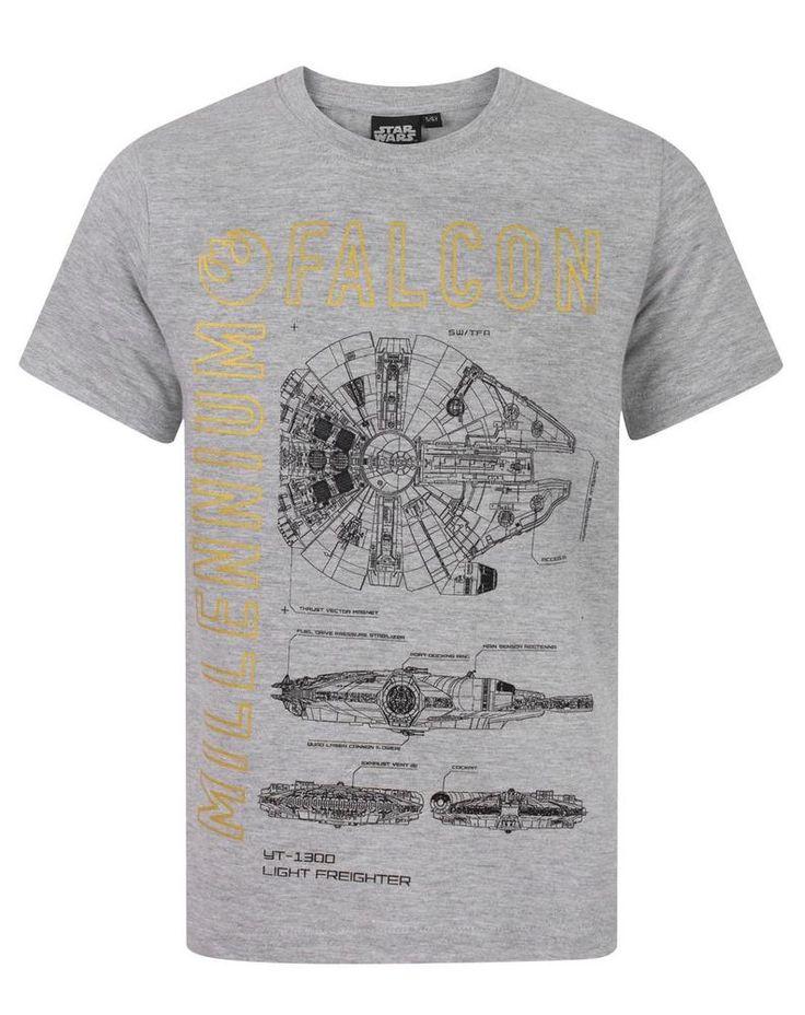 Star Wars Millenium Falcon Boy's T-Shirt  #StarWars