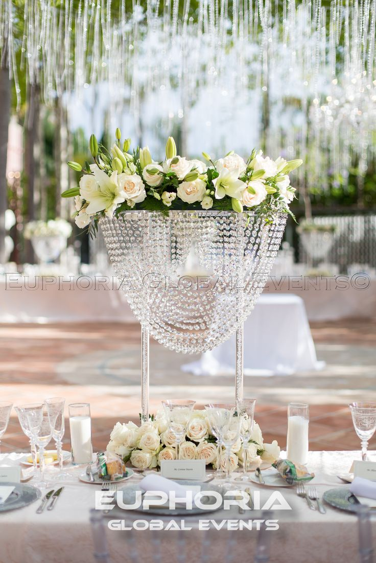 Luxury Wedding Centre Piece From Marbella Euphoria Global Events