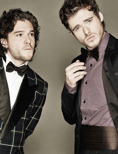 Game of Thrones - Kit Harington & Richard Madden.. Oh my Starks.