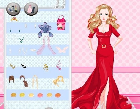 Lovely wedding dress up games and makeover games