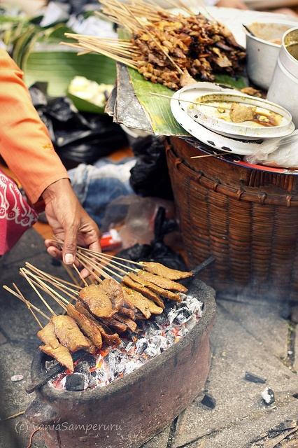 Sate Kere Solo....spiced grilled tofu waste