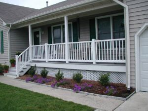 1000 ideas about vinyl railing on pinterest outdoor for Front porch cost estimator