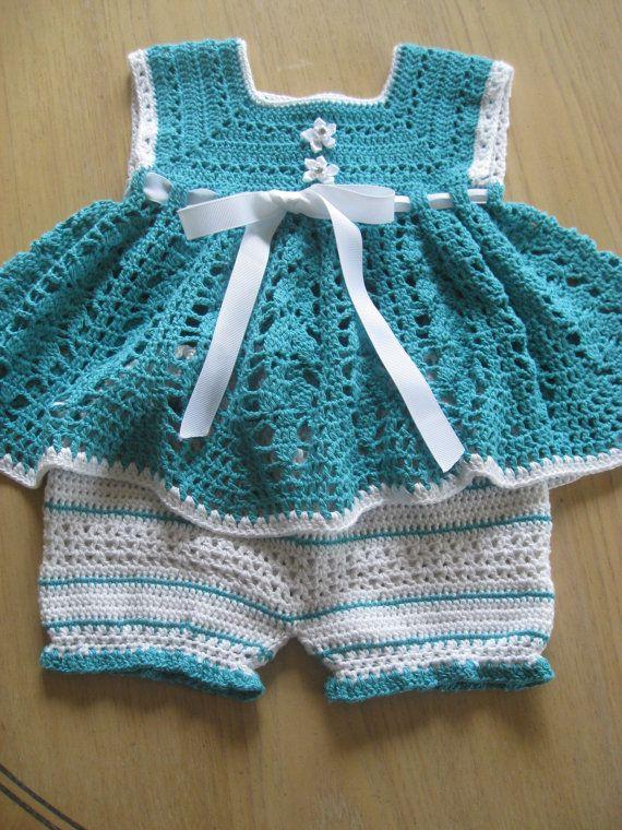 Crochet patrón para vestido bombacho Set por ThePatternParadise