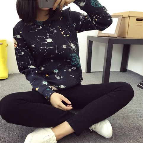 Harajuku universe galaxy space cotton sweater · Harajuku fashion · Online Store Powered by Storenvy