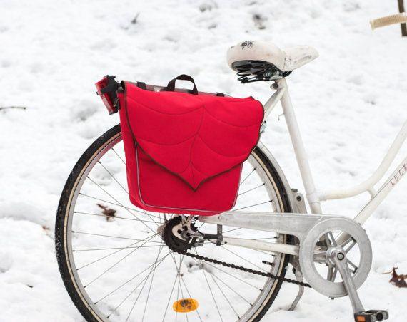 Leaf Pannier Bag Waterproof Messenger bag Bike by LeaflingBags