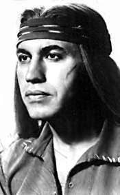 Michael Ansara as Cochise in Broken Arrow -I remember when he and Bargara Eden were married all those years ago, they had a son together back then... but then they divorced...