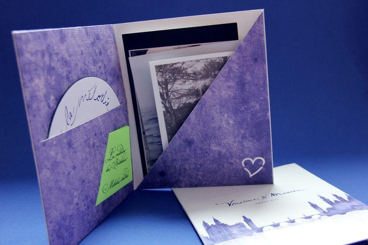 Une pochette de remerciement avec la musique et les photos du mariage pour prolonger la fête !  Allons-y Alonso | Design d'invitations & fun  !