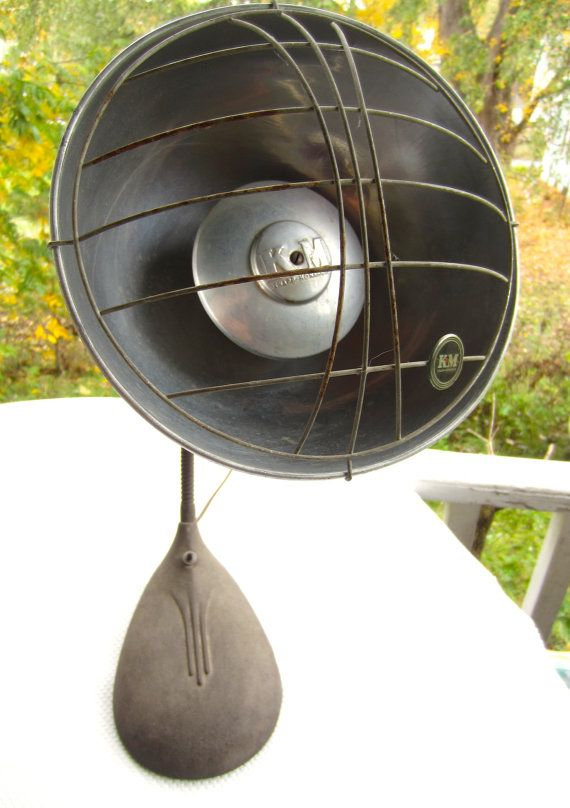 Vintage Steampunk Industrial Electric Heater Knapp Monarch by corrnucopia