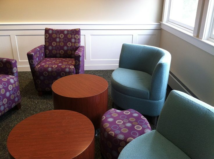 Salisbury Public Library (MA) -- the same pieces as the adult areas, but in different fabrics