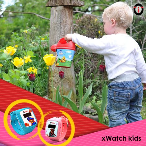 Build the good habit of child safety with xWatch Kids, adorable GPS tracking smartwatches! Hello IoT.