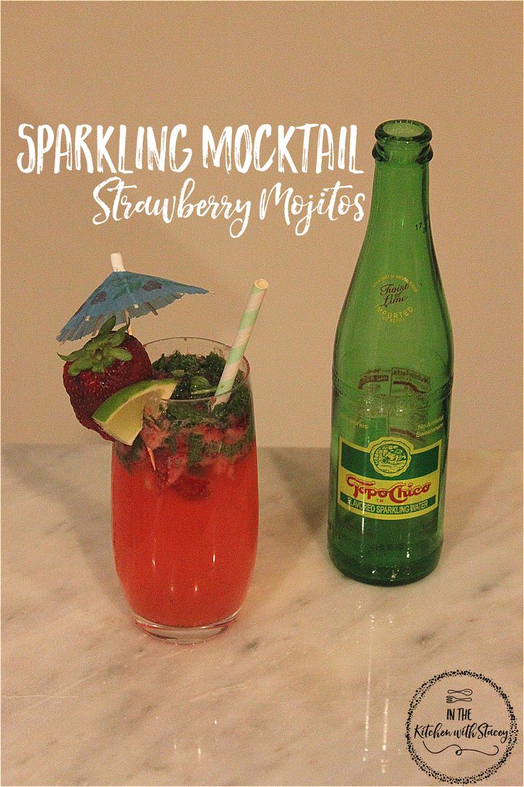 Can't or Won't Drink on Cinco de Mayo?  Make this Sparkling Strawberry Mocktail Mojito Recipe made with Topo Chico Lime Flavored Mineral Water. Mint, Sugar in the Raw, Lime, and ..