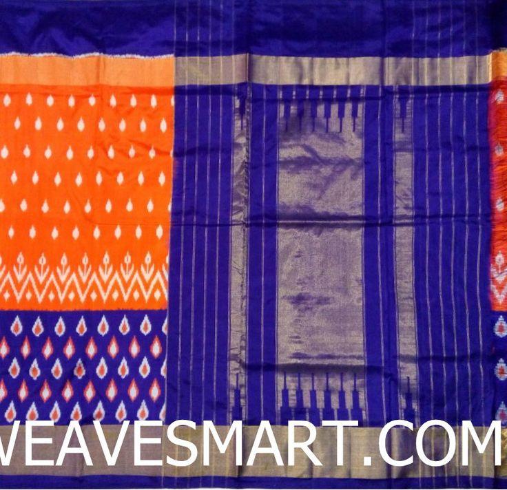 Pochampally-ikat-silk-saree - POC01796