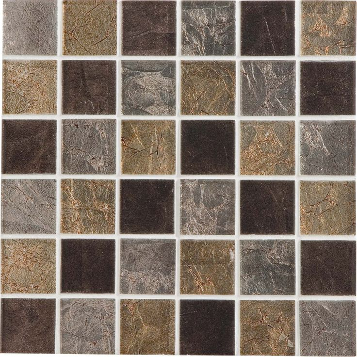 Mosa que glass select mix artens marron 5x5 cm leroy for Leroy merlin mosaique salle de bain