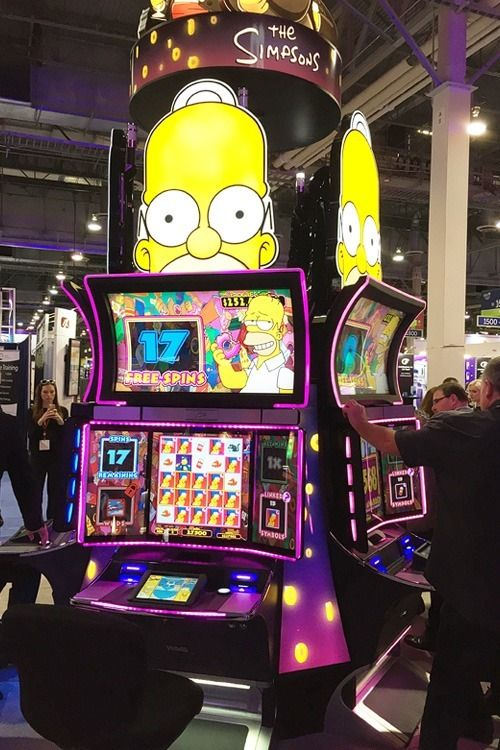 Simpsons slot machine at Global Gaming Expo.
