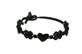 Cruciani Armband Liebe und Glück schwarz