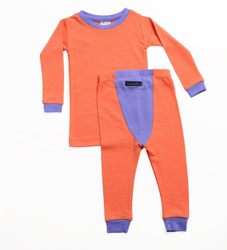 Wee Woollies Merino Pajamas - Little Kids. Made in Canada. Sizes 6-12mos, 1yr up to 3yrs.