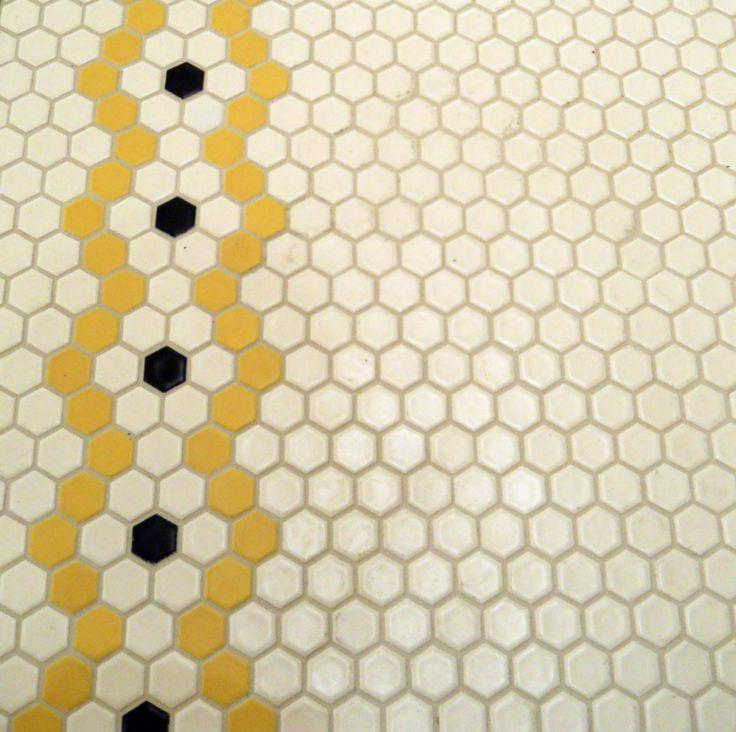 """Create your own 1"""" hex #tile rosette patterns with any of Pratt & Larson's hundreds of colors #prattandlarson"""