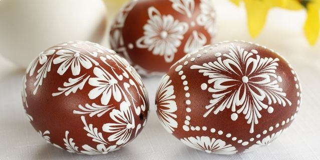 ...handpainted Easter eggs...