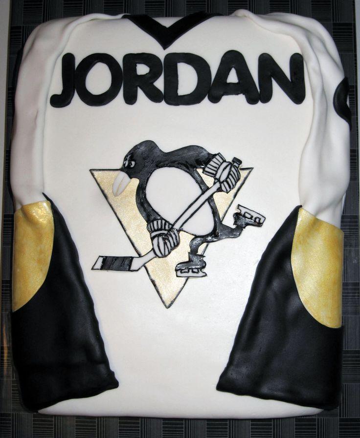 Pittsburgh Penguins Jersey Cake