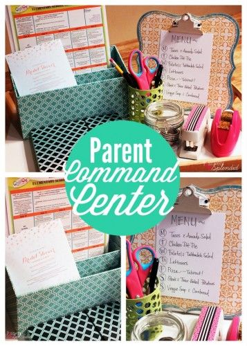 Busy Parent Command Center - Great idea for staying organized with kids! #MichaelsMakers