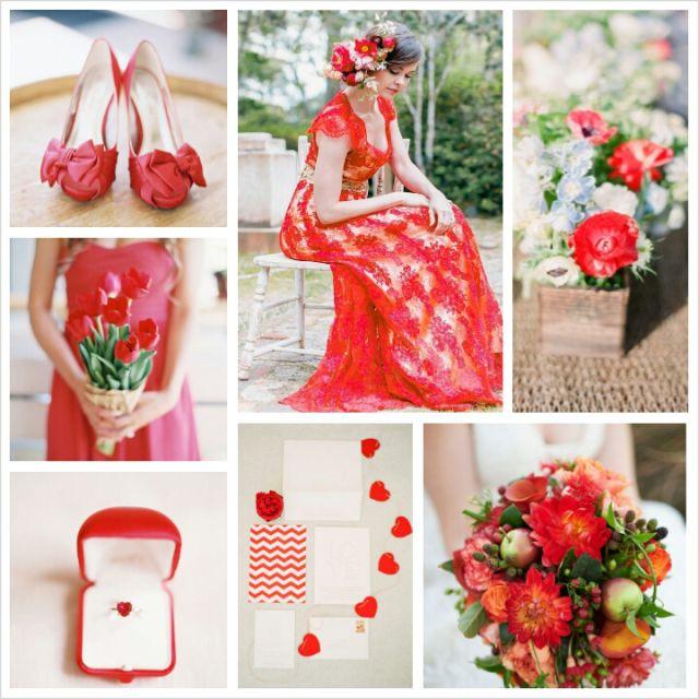 Top 10 de tendencias de colores para Bodas Primavera 2014 con este rojo cayena. #TendenciasEnBodas