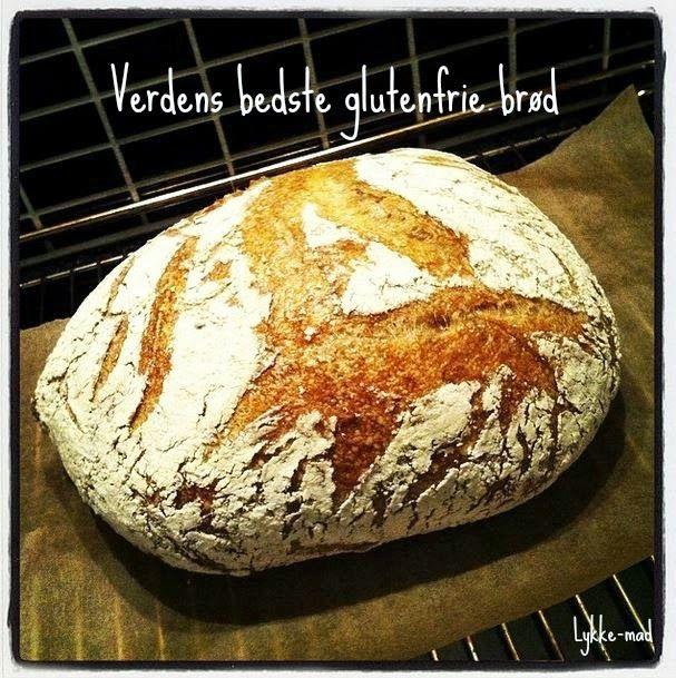 """Lykke-mad - en gluten, laktose og ægge-fri blog: Verdens bedste glutenfrie brød - """"Grydebrødet"""""""