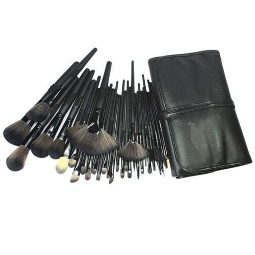 32pcs superior Professional Soft Cosmetic Makeup Brush Set Kit + Pouch Bag Case