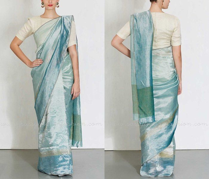 Plain Silk Saree Images