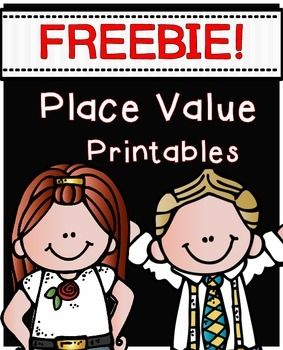 "FREEBIE! PLACE VALUE PRINTABLES.....Follow for Free ""too-neat-not-to-keep"" teaching tools & other fun stuff :)"