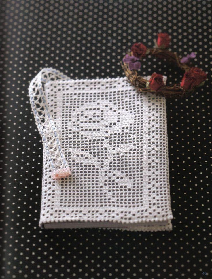 crochet lace book cover