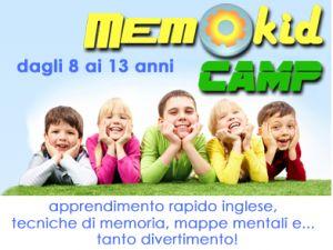 Memo Kid Camp per un'estate divertente e istruttiva - Mondo Kids