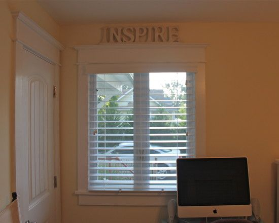 Faux wood blinds + window trim | For The Home; Trim and ...
