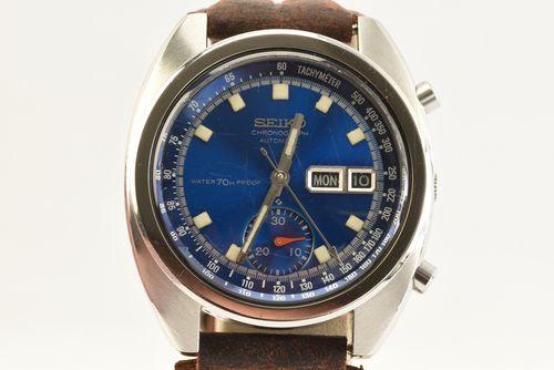 Vintage Seiko Automatic Chronograph 6139-6012 Circa 1970s Mens Watch Serviced