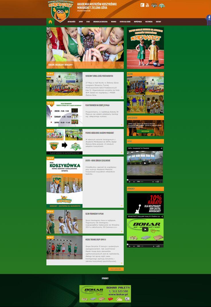 Strona stowarzyszenia promującego koszykówkę wśród najmłodszych - miniBASKET.