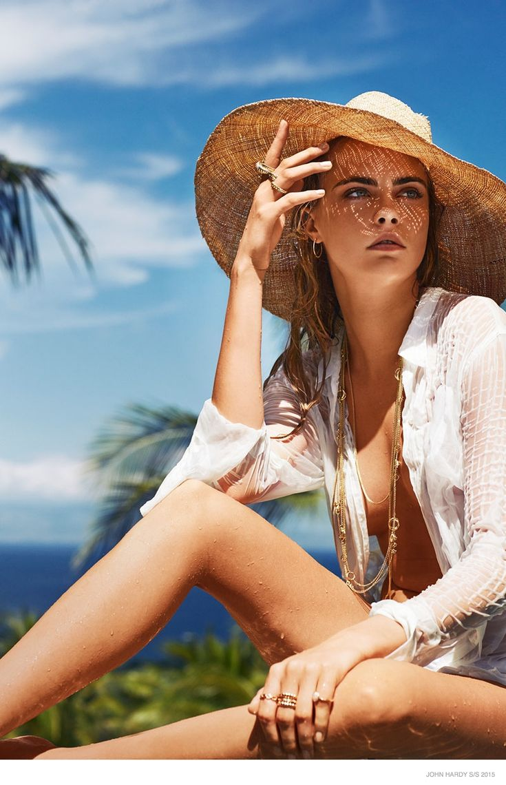 Following up her beachside campaign last year, Cara Delevingne is back for John Hardy's spring 2015 advertisements. The Bali-based jewelry brand enlisted Sebastian Faena to photograph the blonde beauty while posing in bed in various states of undress. Cara looks carefree with a load of sensuality in the sexy shots. See more images and the official campaign ...